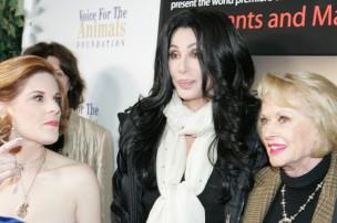 Kat Kramer, Cher, and Tippi Hedren at world premier private screening