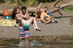 (l-r) Lauren Luiz as Anna, Pritesh Shah as Dan, Sara Fletcher as Sarah, Michael Welch as Jake