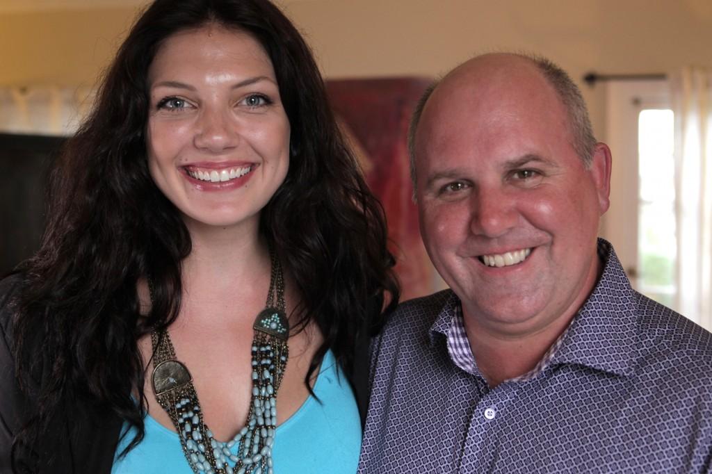 Actors Reporter Host Julie-Kathleen Langan and Actor James DuMont