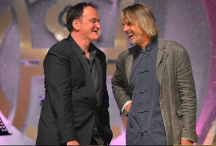 Quentin Tarantino and Jeremy Irons