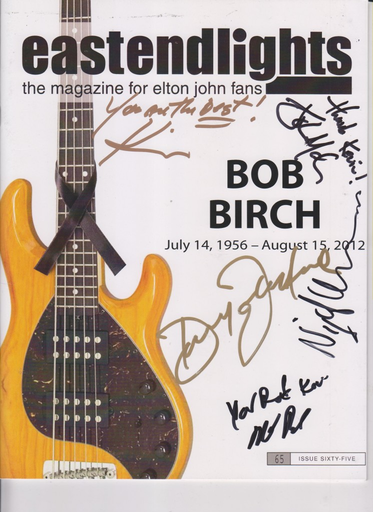 east end lights signed by Elton Band Members