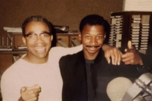 Young Dave Fennoy at KSOL with Robert Townsend