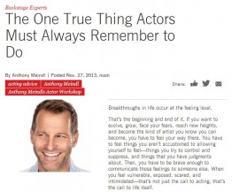 one thing actors must do