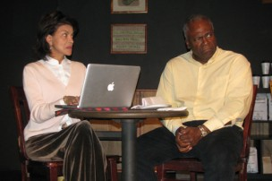 Gloria Charles and Kim Estes