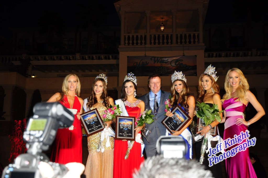 Steve Nave and the Winners and Runner-Ups Miss West Coast and Miss West Coast Teen 2014