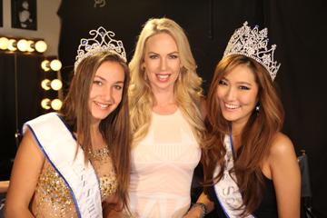 Masha Shadchina, 1st runner-up Miss West Coast Teen, Tara Rice, and Allison Kim, runner-up Miss West Coast