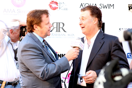 Event MC and host Steve Nave with actor judge Leo Rossi