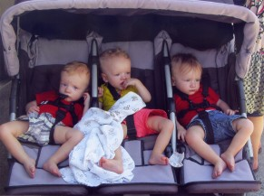 Photo 26 - Triple Treat - (l to r) Triplets Finley, Ellery and Paxton Stobert - Photo by Steve Moyer