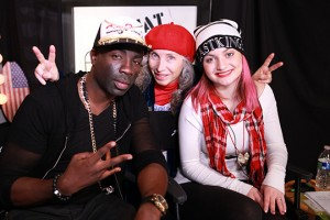 Sam Sarpong, Pepper Jay, and Laci Kay on set of ActorsE Chat