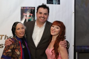 Pepper Jay (Selma Av), Sandro Monetti (Spirit of the Toscars Host), and  Ruth Connell (Red Carpet Host)
