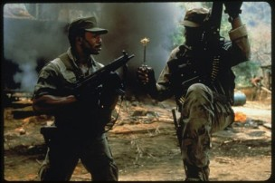 Carl Weathers and Bill Duke in Predator (1987)