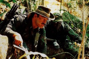 Jesse Ventura and Bill Duke in Predator (1987)