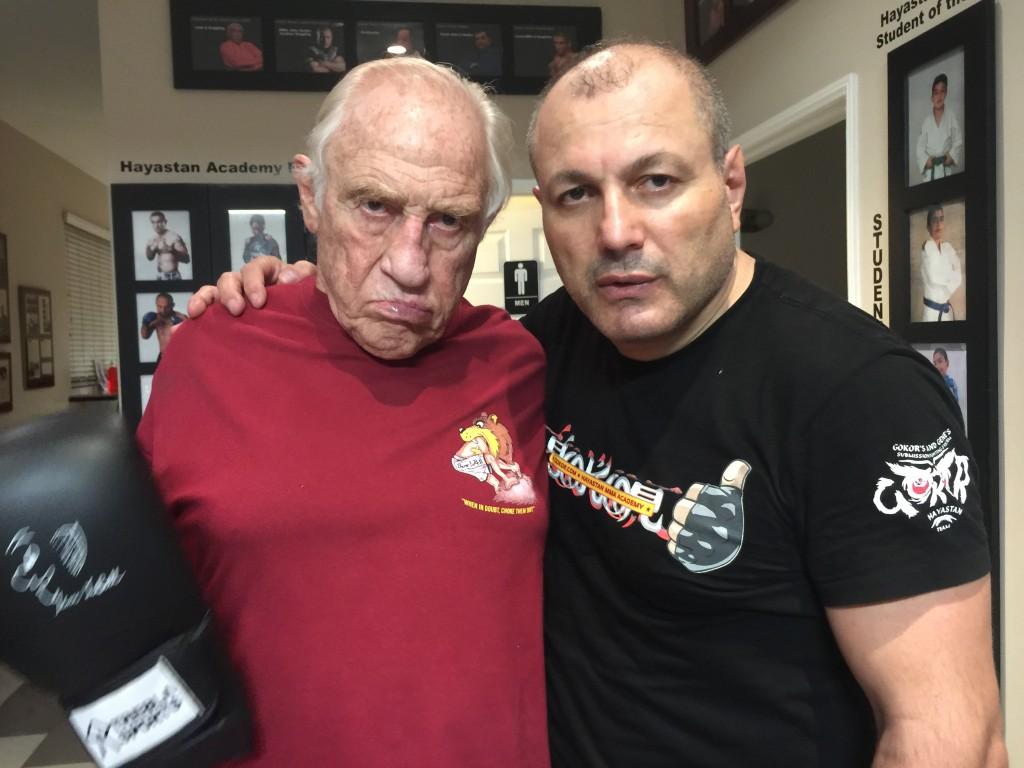 Gene LeBell and Gokor Chivichyan at Hayastan MMA Academy