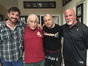 Stan Witz, Gene LeBell, Gokor Chivichyan, and Ric Drayson at Hayastan MMA Academy