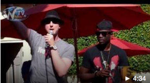 Eric Zuley and Sam Sarpong rap for Pepper Jay