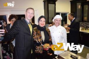 Eric Zuley, Carmelita Pittman, and Chef Anina