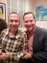 With Gilbert Gottfried