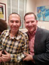 With Gilbert Gottfried